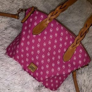 Dooney & Bourke Fuchsia Signature Satchel